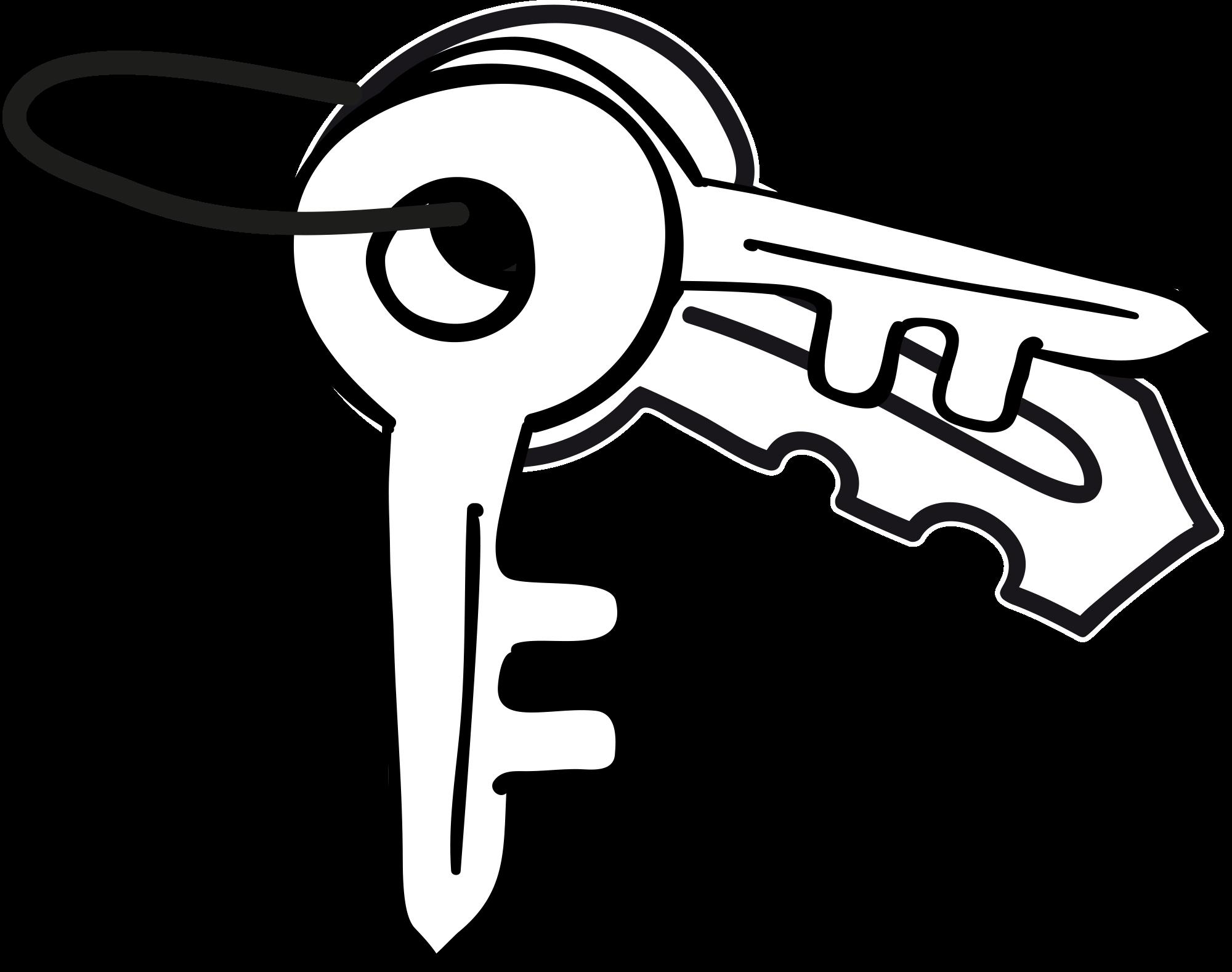 Tecknad nyckelknippa