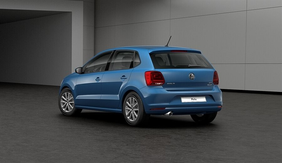 Blå Volkswagen Polo