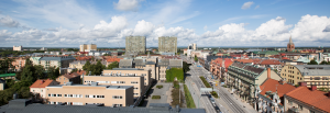 Vy över Örebro mot Krämarhusen
