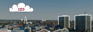 Örebro stad med fastigheter uppkopplade mot molnet