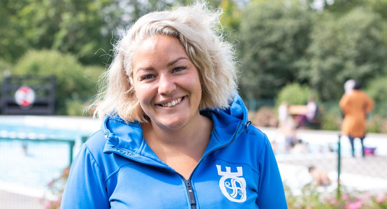 Michelle Asprou Forsberg, projektledare för sommarbaden i Vivalla och Varberga.