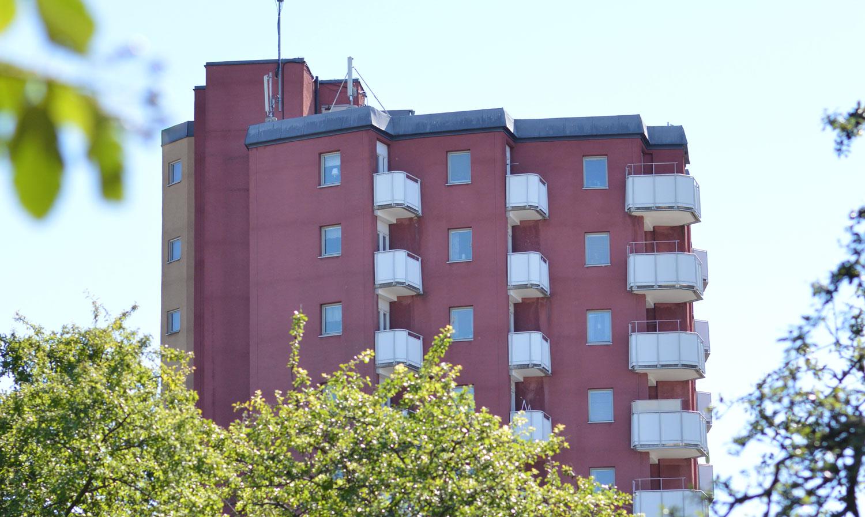 Översta våningarna av höghuset Stjärnan i <span class=