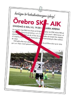 Fotboll med ÖSK uppskjuten