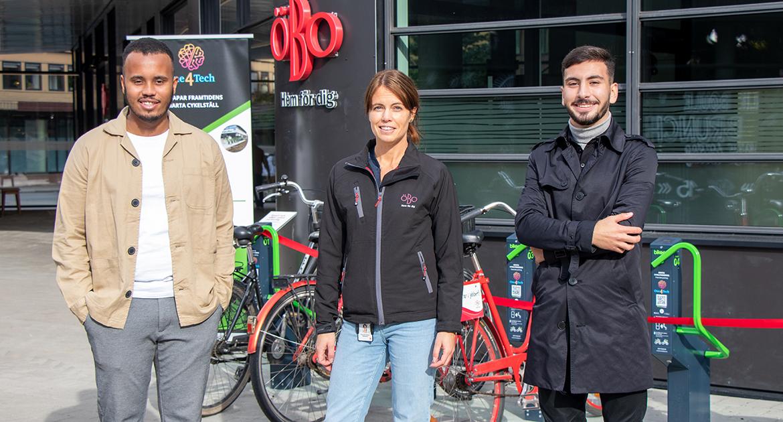 Digitala och smarta cykelställs som styrs med mobilen